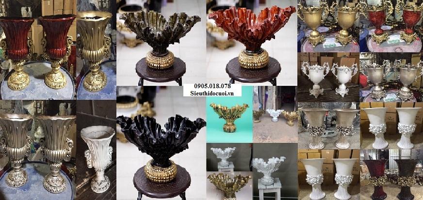 Bình hoa cưới composite, đôn hoa